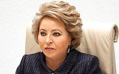 Valentina Matvienko addresses members oftheSCO forum onwomen's education andpoverty alleviation