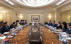 В. Матвиенко: Мы настроены наактивизацию межпарламентского взаимодействия сРеспубликой Корея