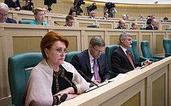 Входе «парламентской разминки» сенаторы затронули международное сотрудничество имежбюджетные отношения