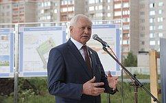 Н. Тихомиров принял участие вторжественных мероприятиях, посвященных сдаче вэксплуатацию нового детского сада вВологде