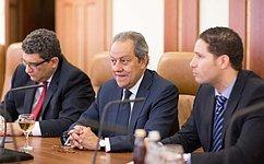 Председатель Комитета СФ помеждународным делам встретился сМинистром торговли ипромышленности Египта