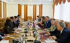 Члены Совета Федерации провели встречу сколлегами изТаиланда