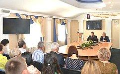 В. Полетаев обсудил вопросы защиты прав потребителей спредставителями Роспотребнадзора поРеспублике Алтай
