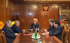 Председатель СФ В.Матвиенко иглава Якутии Е.Борисов обсудили перспективы социально-экономического развития региона