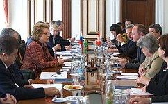 Председатель СФ В.Матвиенко встретилась сПредседателем Национального совета Швейцарии Ю.Шталем