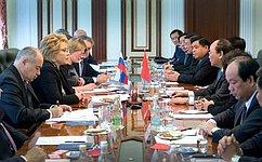 ВРоссии удовлетворены уровнем развития стратегического партнерства сВьетнамом— В.Матвиенко