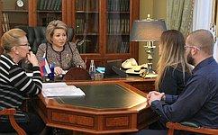 В. Матвиенко провела вСанкт-Петербурге прием граждан