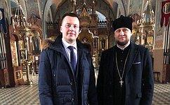 А. Пронюшкин посетил Свято-Успенский храм г. Петушки ипообщался сНастоятелем— Протоиереем Сергием Берёзкиным