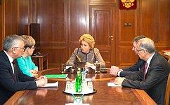 В.Матвиенко иН.Жданова обсудили проблемы социально-экономического развития Забайкальского края