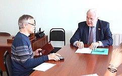 С.Попов провел прием населения вг. Тара