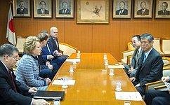 В.Матвиенко: Необходимо закреплять позитивные тенденции, наметившиеся вроссийско-японских межпарламентских контактах