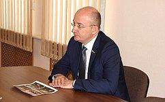 О. Цепкин встретился сУполномоченным поправам человека вЧелябинской области