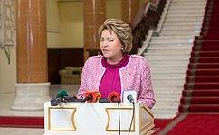 В.Матвиенко: Принимать вПАСЕ резолюции поРоссии вее отсутствие– бессмысленно ибесперспективно