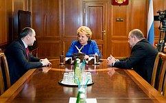 Председатель Совета Федерации иглава Карачаево-Черкесии обсудили ситуацию вагрокомплексе региона