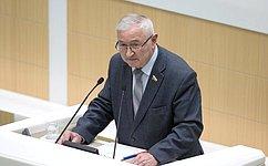 Представлена информация полномочного представителя Совета Федерации вПравительстве Российской Федерации оработе загод