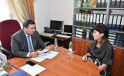 В.Полетаев провел открытый прием граждан вРеспублике Алтай