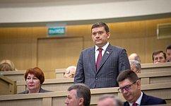Н.Журавлев избран заместителем Председателя Совета Федерации