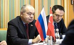 Заместитель Председателя СФ И.Умаханов провел встречу сПослом Турции вРоссии Х.Дириозом