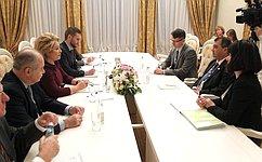 В.Матвиенко провела встречу сПредседателем МПС С.Чоудхури