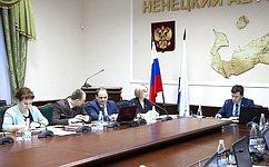 Р. Галушина обсудила спарламентариями НАО вопросы реализации окружного закона оквотировании рабочих мест