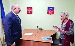 К. Долгов провел прием граждан вг.Ковдор Мурманской области