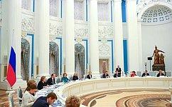 В. Матвиенко провела первое заседание Совета при Президенте России пореализации госполитики всфере защиты семьи идетей