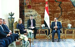 Состоялась встреча Председателя СФ В.Матвиенко сПрезидентом Египта А.Сиси
