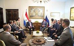 Делегация Совета Федерации провела ряд встреч врамках рабочей поездки вПарагвай