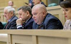 На367-ом заседании Совета Федерации И. Панченко поднял вопрос обостановке роста цен напродукцию металлургов