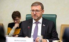 К.Косачев: Россия иИран намерены продолжать развитие иуглубление межрегиональных связей