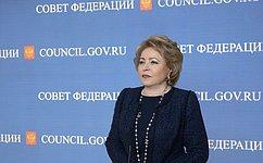 В.Матвиенко прокомментировала заявление премьер-министра Великобритании Т.Мэй