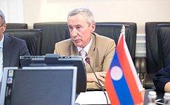 А. Климов провел встречу сделегацией Национальной Ассамблеи Лаосской Народно-Демократической Республики