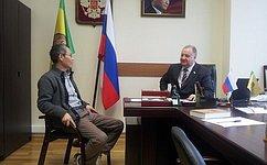 В.Кондрашин поддержал инициативу осоздании Российского культурного центра вРеспублике Корея