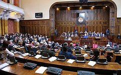 Председатель Совета Федерации выступила напленарном заседании Народной скупщины Республики Сербии