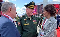 М. Павлова: Нафоруме «Армия– 2021» представлены самые современные военная техника ивооружение