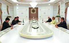 Состоялась встреча Председателя Совета Федерации В.Матвиенко сПрезидентом Туркменистана Г.Бердымухамедовым