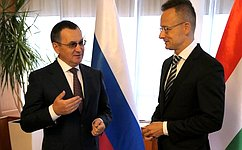 Между Россией иВенгрией успешно развивается экономическое взаимодействие поширокому спектру отраслей— Н.Федоров