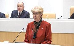 Н. Дементьева: Вопросы развития модельного законодательства– важное направление вработе МПА СНГ