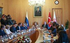 В.Матвиенко: Парламенты России иТурции должны способствовать созданию условий для развития сотрудничества двух стран