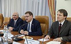 К. Косачев высказался зарасширение межпарламентских связей между Россией иИзраилем, втом числе науровне профильных комитетов Совета Федерации иКнессета