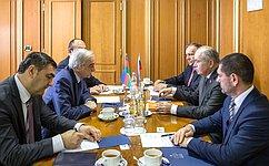 Состоялась встреча заместителя Председателя СФ И.Умаханова спослом Азербайджанской Республики вРФ П.Бюльбюль Оглы