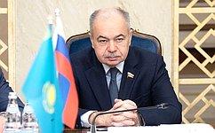 Ilyas Umakhanov meets with Ambassador Extraordinary andPlenipotentiary ofKazakhstan toRussia Yermek Kosherbayev