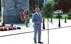 С. Березкин принял участие вовстрече участников патриотического автопробега «Отобщей Победы– кобщему миру» вЯрославле