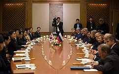 Speaker of the Federation Council: Russia highly values relations with the Republic of Korea