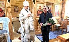 Н. Федоров: Этот храм построен народом. Здесь люди будут творить общую молитву