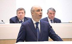 А.Силуанов проинформировал членов СФ овлиянии изменения в2016году налогового ибюджетного законодательства надоходы регионов