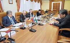 Вице-спикер СФ И. Умаханов обсудил сПослом Узбекистана З. Пулатходжаевым подготовку кзаседанию групп дружбы сенатов двух стран