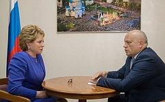 Спикер СФ провела рабочую встречу свременно исполняющим обязанности губернатора Омской области