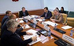 В.Харламов провел заседание рабочей группы посовершенствованию законодательства всфере потребкооперации