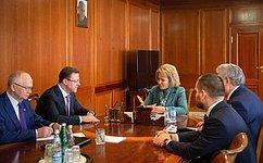 В.Матвиенко иД.Азаров обсудили ход реализации национальных проектов вСамарской области